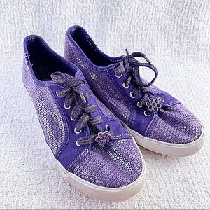 Keds Girls Purple Sequins Shoes Sneakers 2.5